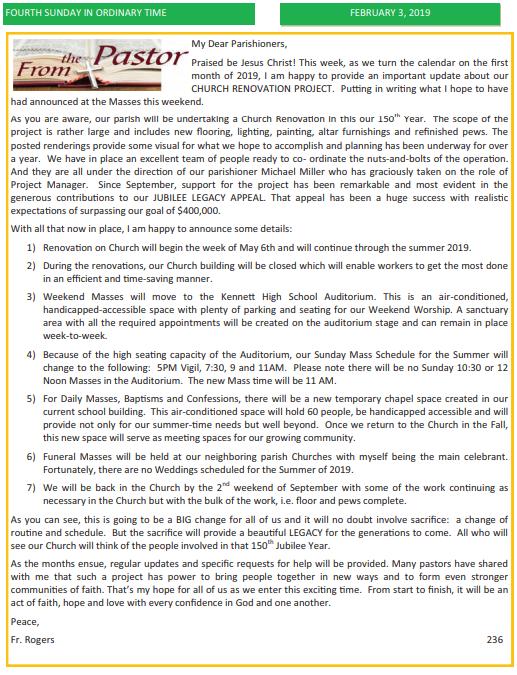 Saint Patrick Church | News & Events
